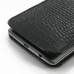 LG G3 Leather Sleeve Pouch Case (Black Croc Pattern) handmade leather case by PDair