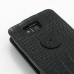 Motorola Droid Razr Maxx HD Leather Flip Top Case (Black Croc Pattern) protective carrying case by PDair