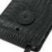 Motorola Droid Razr Maxx Leather Flip Case (Black Croc Pattern) protective carrying case by PDair