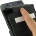 Motorola Droid Razr Maxx Leather Flip Case (Black Croc Pattern) handmade leather case by PDair