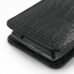 Motorola Droid Razr Maxx Leather Sleeve Pouch Case (Black Croc) protective carrying case by PDair