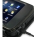 Nokia N900 Leather Flip Cover (Black Croc) handmade leather case by PDair