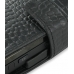 Nokia N900 Leather Flip Cover (Black Croc) genuine leather case by PDair