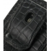 Sony Ericsson Xperia X10 Mini Pouch Case with Belt Clip (Black Croc) protective carrying case by PDair