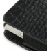 Sony Ericsson Xperia X10 Mini Pouch Case with Belt Clip (Black Croc) handmade leather case by PDair