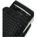 Sony Ericsson Xperia X10 Mini Pouch Case with Belt Clip (Black Croc) top quality leather case by PDair