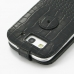 Samsung Galaxy S3 Leather Flip Top Case (Black Croc Pattern) protective carrying case by PDair