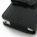 Samsung Galaxy S WiFi 5.0 Leather Holster Case (Black Croc Pattern) protective carrying case by PDair