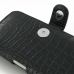 Samsung Galaxy S WiFi 5.0 Leather Holster Case (Black Croc Pattern) handmade leather case by PDair