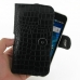 Samsung Galaxy S WiFi 5.0 Leather Holster Case (Black Croc Pattern) genuine leather case by PDair
