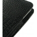 Samsung Galaxy S WiFi 5.0 Pouch Case with Belt Clip (Black Croc) genuine leather case by PDair
