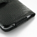 Samsung Galaxy Mega 6.3 Leather Holster Case (Black Croc Pattern) protective carrying case by PDair