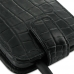 Samsung Galaxy S2 Epic Leather Flip Top Case (Black Croc Pattern) handmade leather case by PDair