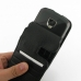 Samsung Droid Charge Leather Flip Case (Black Croc Pattern) top quality leather case by PDair