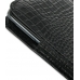 Samsung Galaxy Note Pouch Case with Belt Clip (Black Croc Pattern) genuine leather case by PDair
