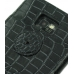 Samsung Galaxy S2 Leather Flip Cover (Black Croc) protective carrying case by PDair