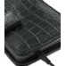 Samsung Galaxy S2 Leather Flip Cover (Black Croc) handmade leather case by PDair