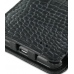 Samsung Galaxy S2 Leather Flip Cover (Black Croc) genuine leather case by PDair