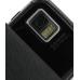 Samsung i8000 Omnia II Leather Flip Case (Black Croc Pattern) handmade leather case by PDair