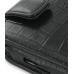 Samsung i8000 Omnia II Leather Flip Case (Black Croc Pattern) genuine leather case by PDair