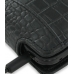Samsung S8000 Jet Leather Flip Case (Black Croc Pattern) top quality leather case by PDair