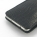 Samsung Galaxy Note 3 Pouch Case with Belt Clip (Black Croc Pattern) handmade leather case by PDair