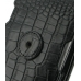 Samsung Galaxy Nexus Leather Flip Case (Black Croc Pattern) protective carrying case by PDair