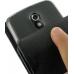 Samsung Galaxy Nexus Leather Flip Case (Black Croc Pattern) handmade leather case by PDair