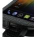 Samsung Galaxy Nexus Leather Flip Case (Black Croc Pattern) genuine leather case by PDair