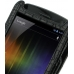 Samsung Galaxy Nexus Leather Flip Case (Black Croc Pattern) top quality leather case by PDair