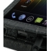 Samsung Galaxy Nexus Leather Flip Top Case (Black Croc Pattern) handmade leather case by PDair