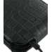 Samsung Galaxy Nexus Leather Flip Top Case (Black Croc Pattern) top quality leather case by PDair