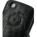 Samsung Captivate Galaxy S Leather Flip Cover (Black Croc) protective carrying case by PDair