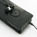 Samsung Captivate Galaxy S Leather Flip Case (Black Croc Pattern) protective carrying case by PDair