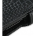 Samsung Google Nexus S Leather Flip Cover (Black Croc) genuine leather case by PDair