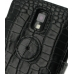 Samsung Galaxy S2 T989 Leather Flip Cover (Black Croc) protective carrying case by PDair