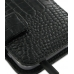 Samsung Galaxy S2 T989 Leather Flip Cover (Black Croc) handmade leather case by PDair