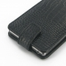 Sony Xperia Z1 Leather Flip Top Case (Black Croc Pattern) handmade leather case by PDair