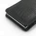 Sony Xperia Z1 Leather Sleeve Pouch Case (Black Croc Pattern) protective carrying case by PDair