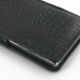 Sony Xperia Z1 Leather Sleeve Pouch Case (Black Croc Pattern) genuine leather case by PDair