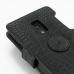 Sony Xperia Ion Leather Flip Cover (Black Croc) protective carrying case by PDair