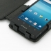 Sony Xperia Ion Leather Flip Cover (Black Croc) genuine leather case by PDair