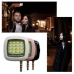 Portable Night Using Selfie Enhancing Flash Light (Black) handmade leather case by PDair