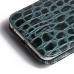 iPhone 6 6s Plus Pouch Case with Belt Clip (Green Croc Pattern) genuine leather case by PDair