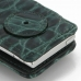 iPod nano 8th / nano 7th Leather Flip Cover (Green Croc) protective carrying case by PDair
