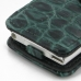 iPod nano 8th / nano 7th Leather Flip Cover (Green Croc) handmade leather case by PDair