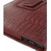 Acer Iconia Tab A500 Leather Flip Carry Cover (Red Croc) genuine leather case by PDair