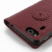 Asus PadFone mini 4.3 Leather Flip Carry Cover (Red Croc) handmade leather case by PDair