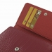 BlackBerry Passport Wallet Leather Wallet Case (Red Croc Pattern) top quality leather case by PDair