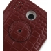 HTC Hero Leather Flip Cover (Red Croc) protective carrying case by PDair